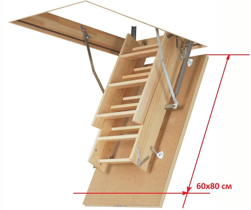Чердачная лестница с люком 60 на 80 см