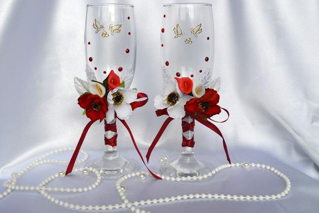 украшенные бокалы