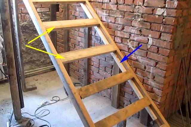Каркас опалубки для бетонной лестницы