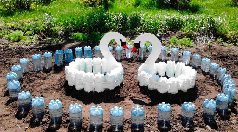 Декоративные фигурки для дачи из бутылок [5 нестандартных вариантов] - Интерьер