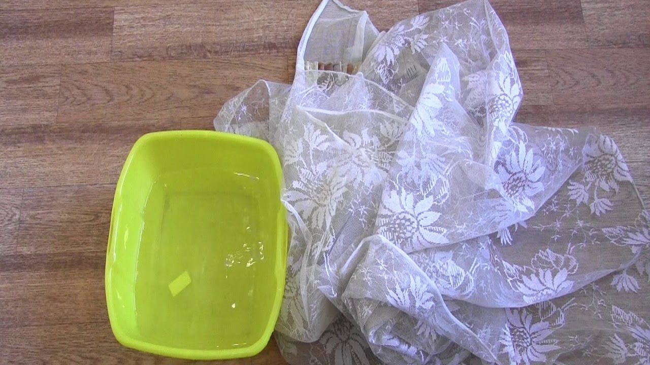 Как правильно стирать тюль в домашних условиях?