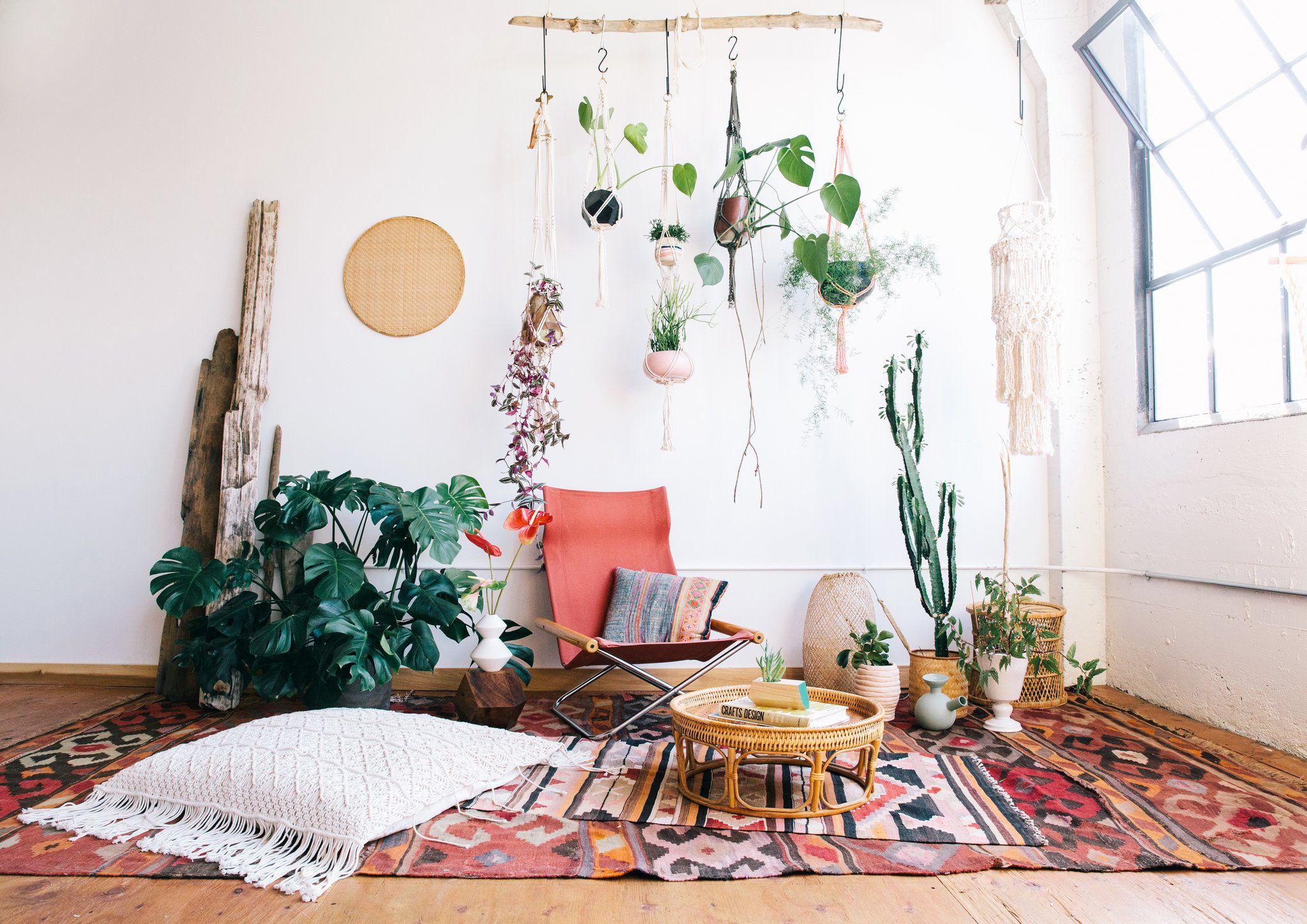 Бохо шик: оформляем одну стену в комнате