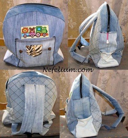 6d7e407de517 Как сшить детский рюкзак из старых джинсов: выкройка и мастер класс