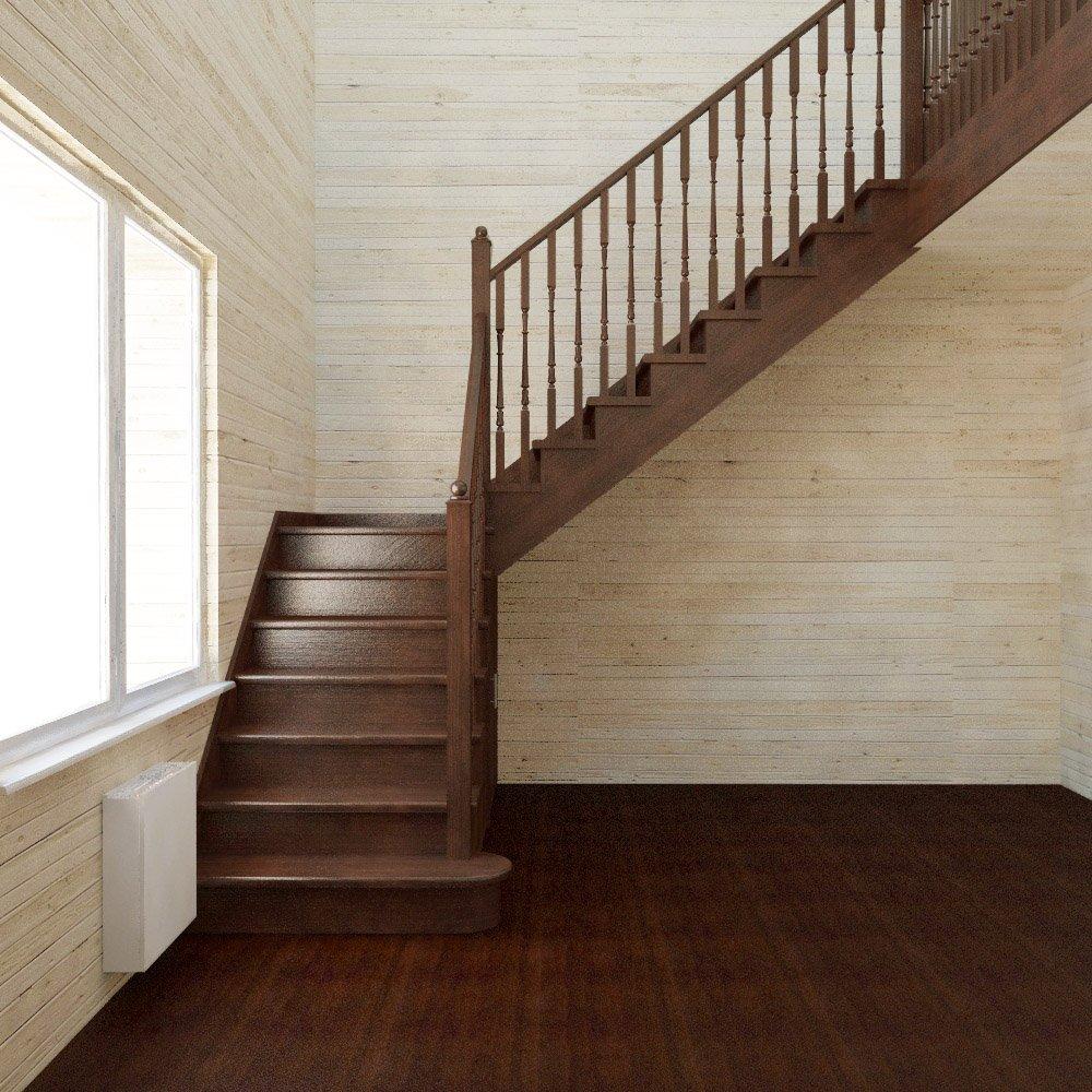 Угловая лестница с площадкой