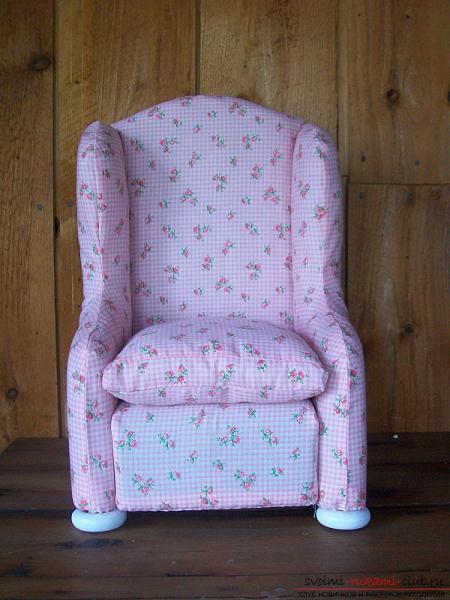 Кресло для куклы своими руками из пластиковой бутылки по мастер-классу