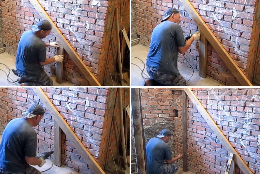 Сборка опалубки для бетонной лестницы