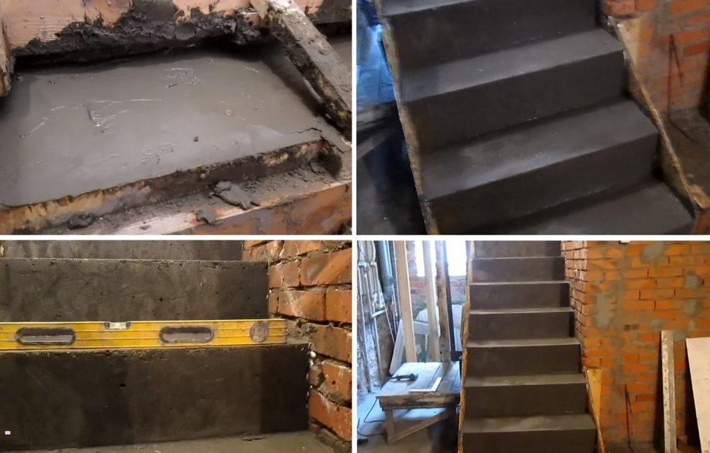 Изготовление бетонной лестницы своими руками
