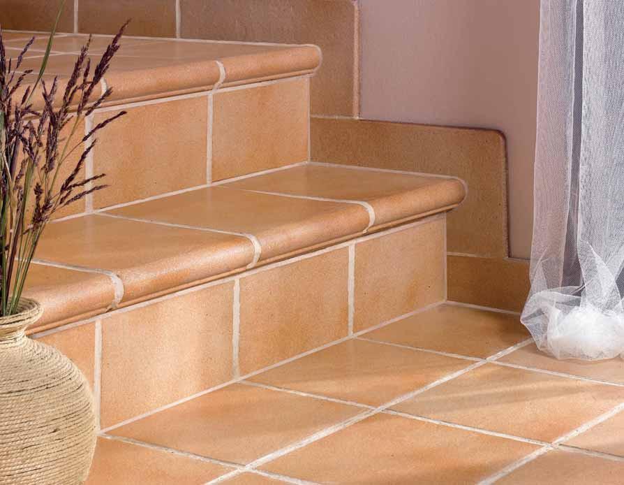 Лестница с отделкой из клинкерной плитки