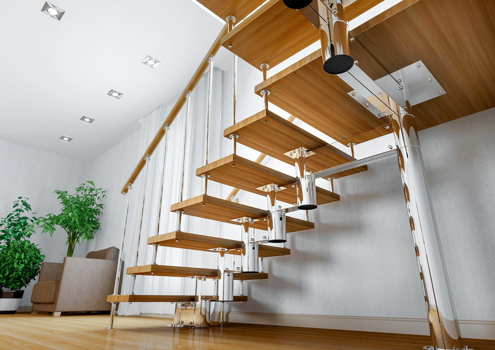Сборная лестница из модулей
