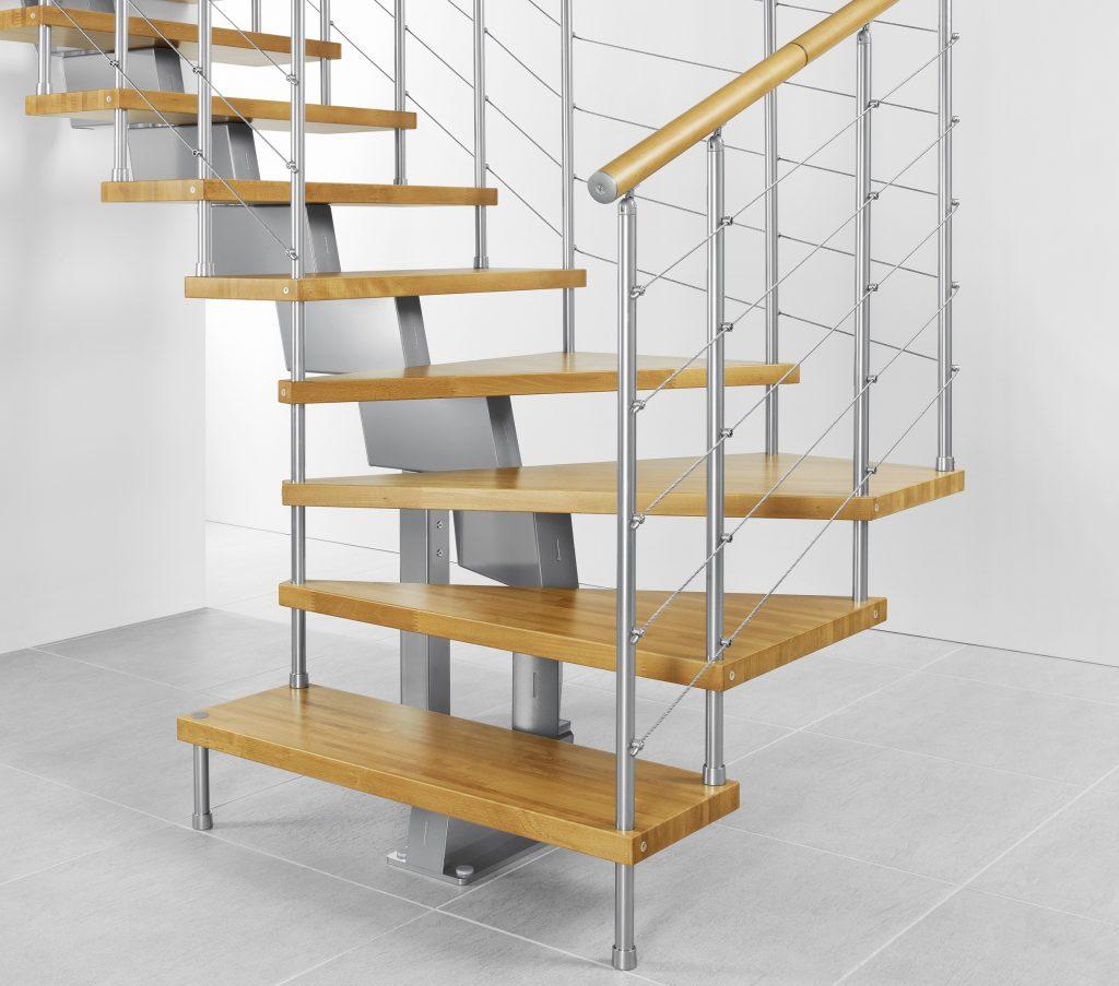 Поворотная модульная лестница