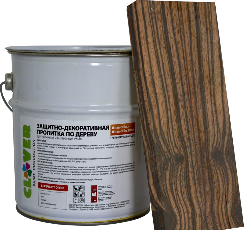 Защитно-декоративная пропитка для дерева