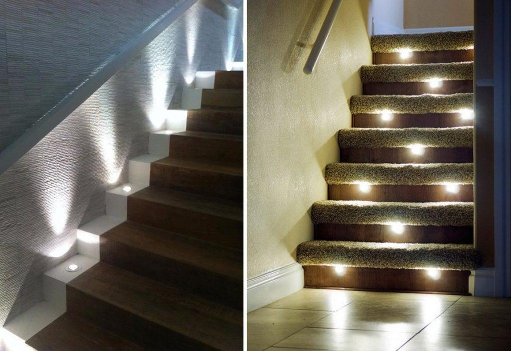 Точечная подсветка лестницы