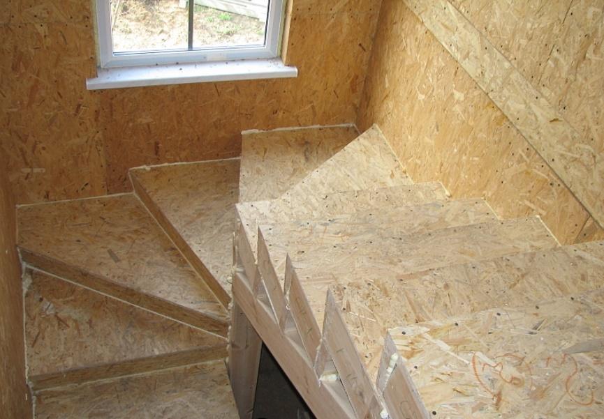 Лестница из ОСБ плиты
