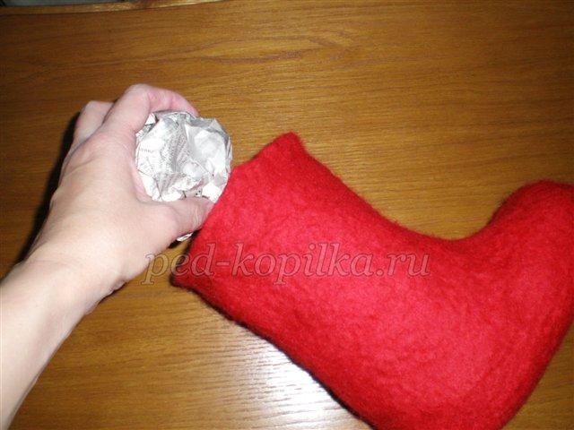 Валенки: поделки своими руками с рисунком из шерсти и из бумаги