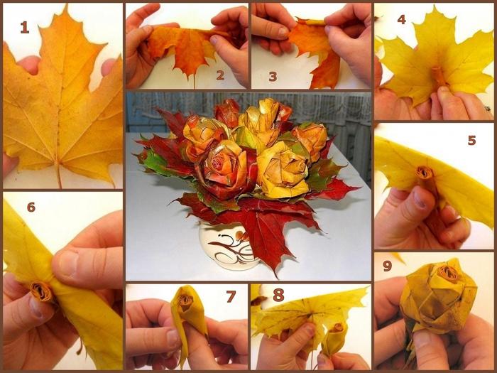 Осенние букеты своими руками для школы из природного материала