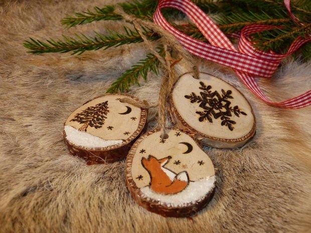 Image result for новогодние украшения из дерева