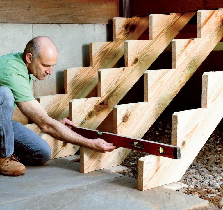 Как сделать лестницу на крыльцо своими руками