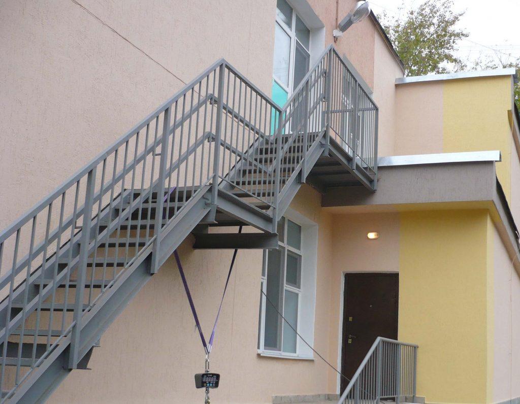 Пожарная наружная лестница