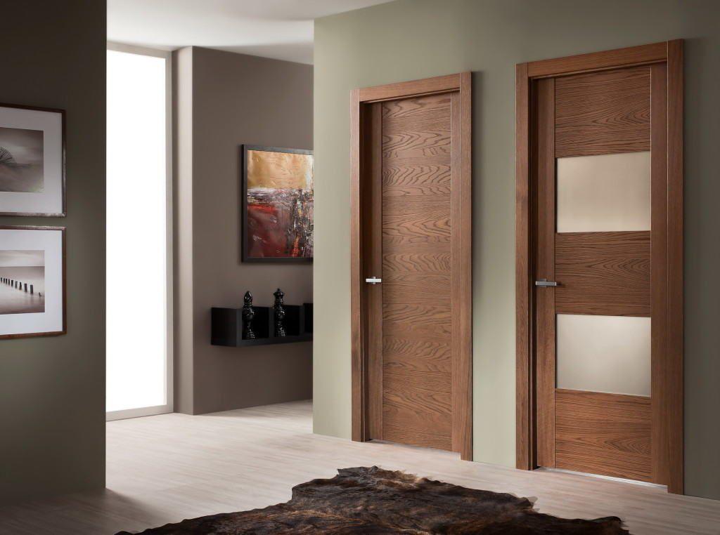 Щитовые межкомнатные двери в интерьере