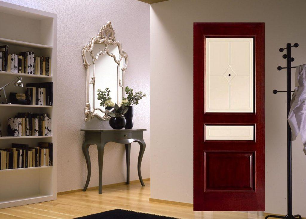 Межкомнатные двери красное дерево