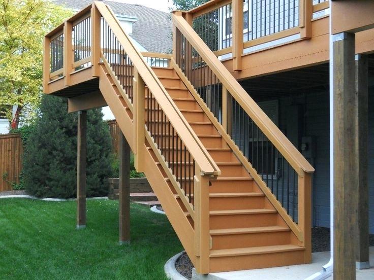 Наружная лестница на террасу