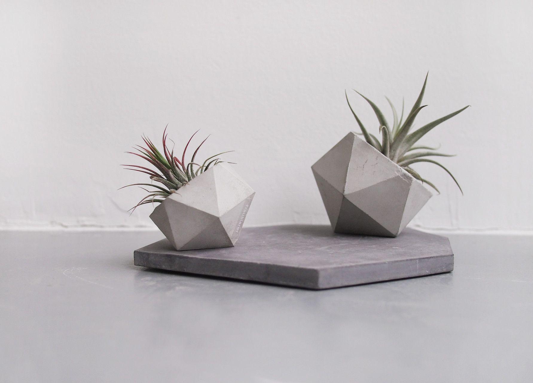 вазочки из бетона