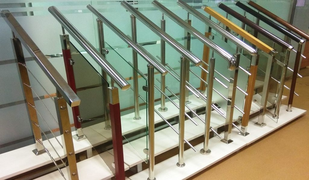 Перила и ограждения для лестницы из нержавейки