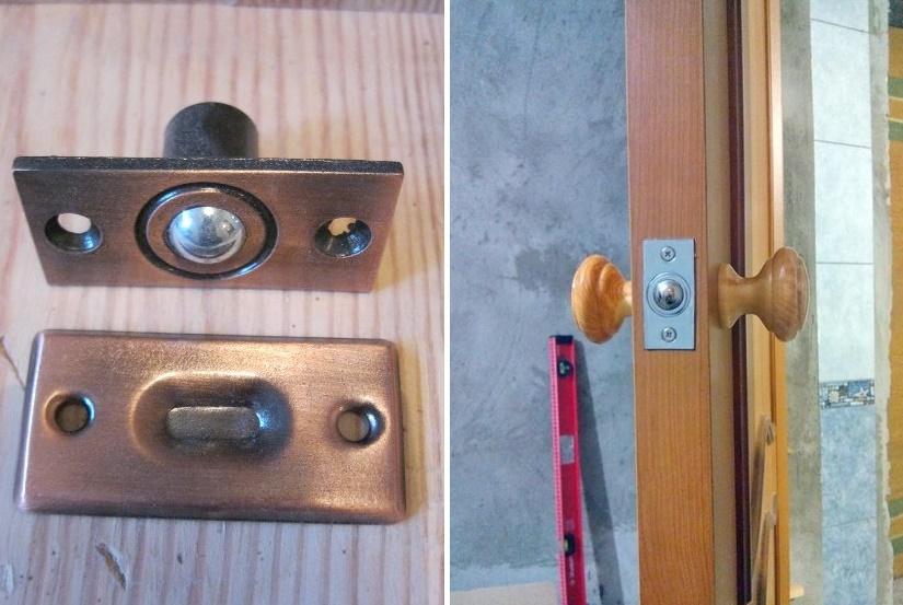 Шариковая защелка на дверь