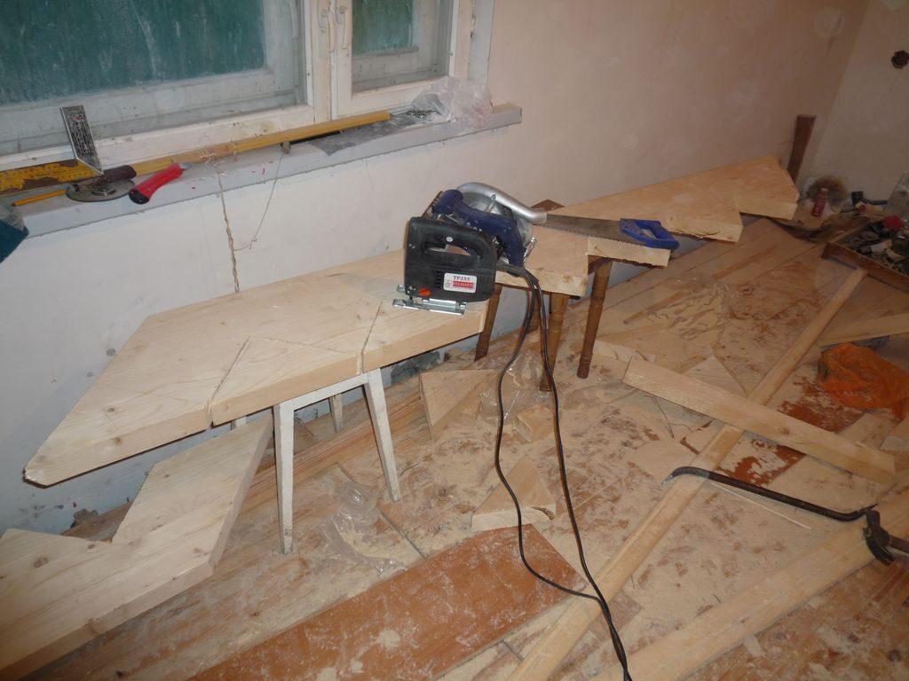 Изготовление косоура для деревянной лестницы