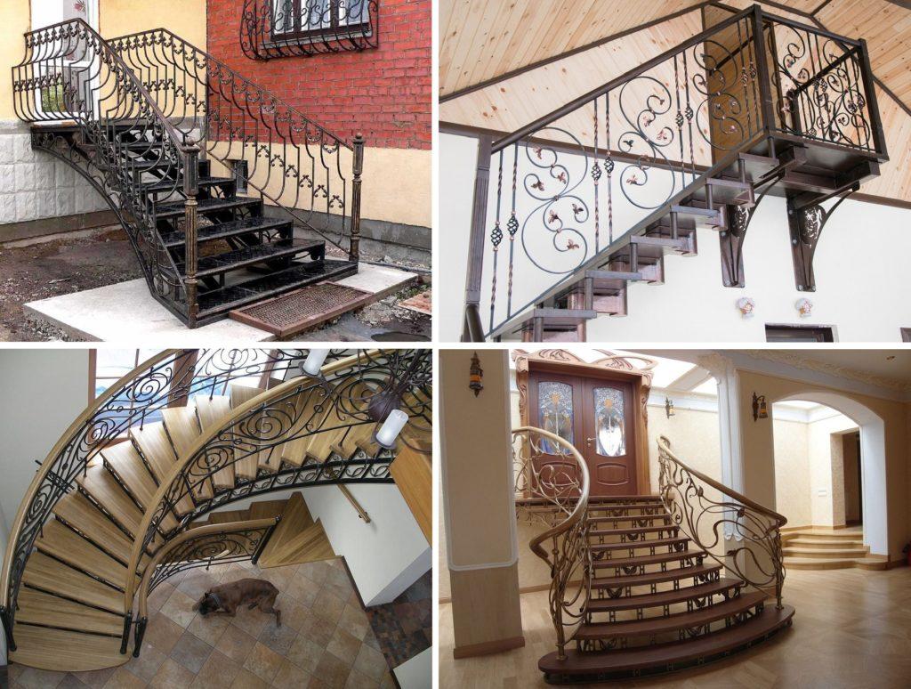 Виды кованых лестниц