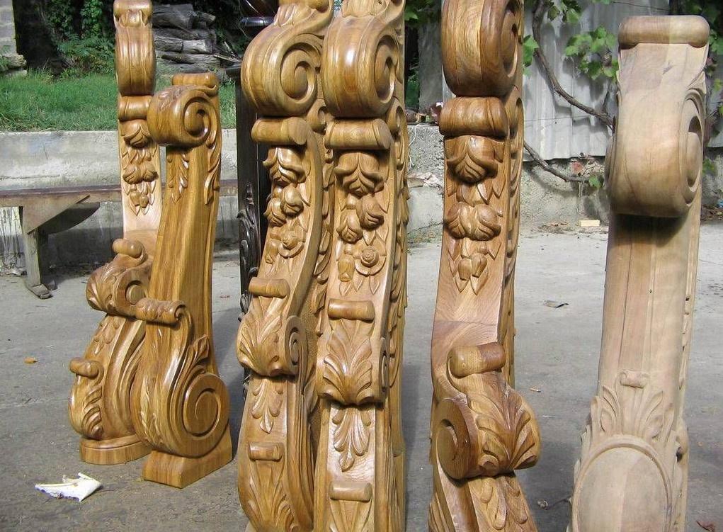 Фигурные балясины из дерева