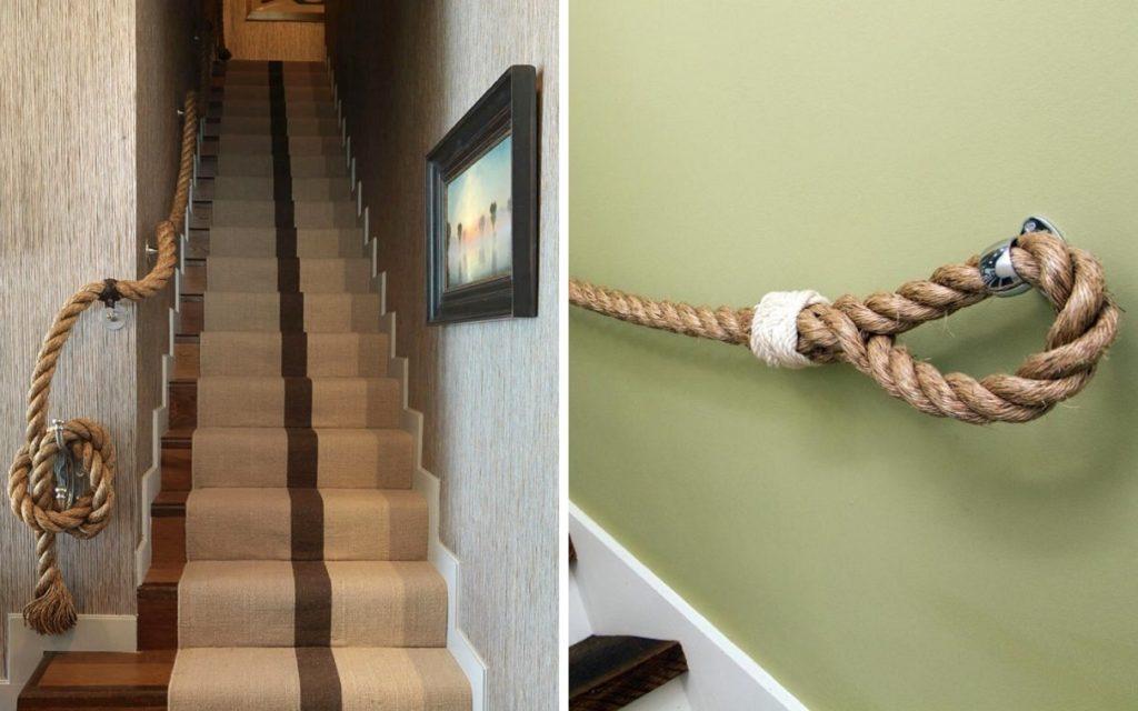Поручень для лестницы из каната
