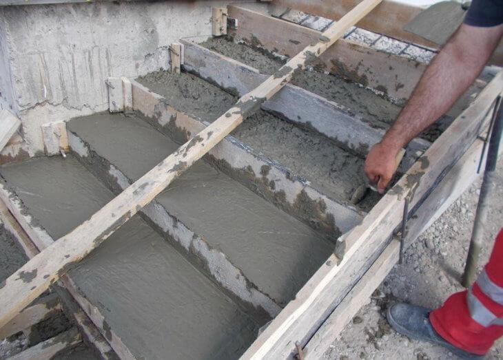 Лестница из бетона в подвал своими руками