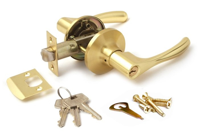 Замок с фиксацией ключом для межкомнатной двери
