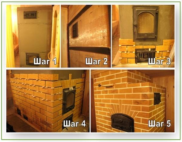 Облицовка печи керамической плиткой: пошаговая инструкция