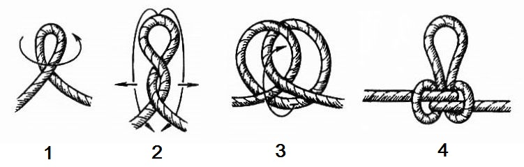 Как завязать бурлацкую петлю