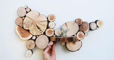 10 потрясающих предметов декора из спилов дерева