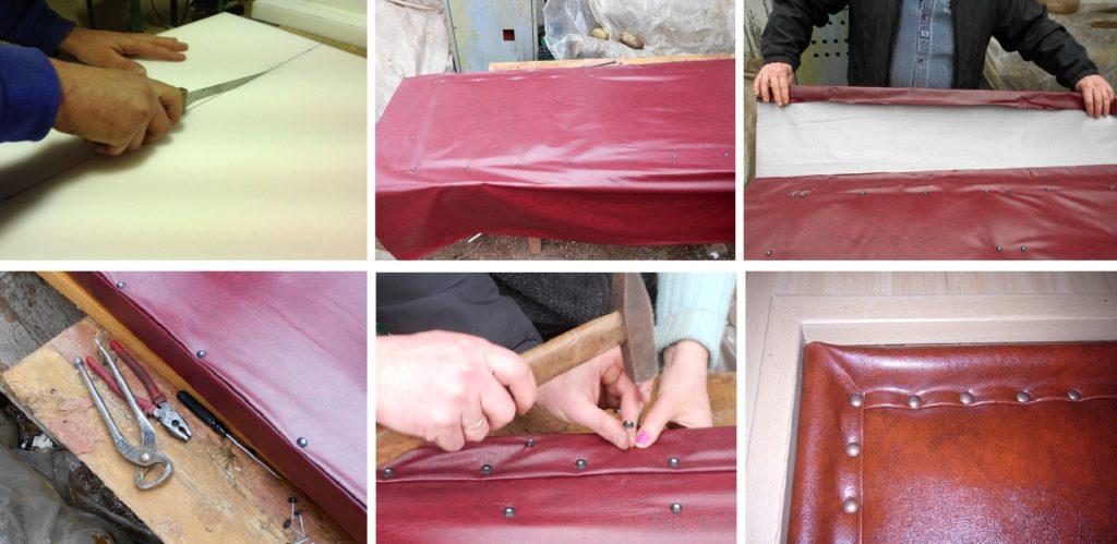 Как обтянуть дверь дерматином своими руками