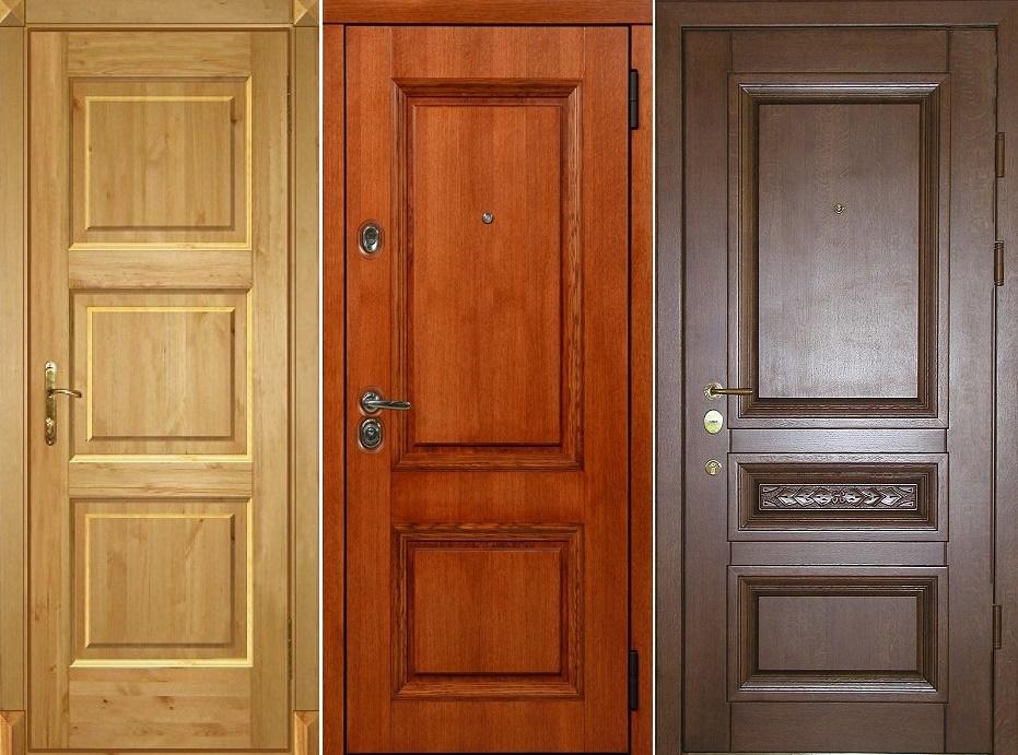 Входные деревянные двери эконом класса