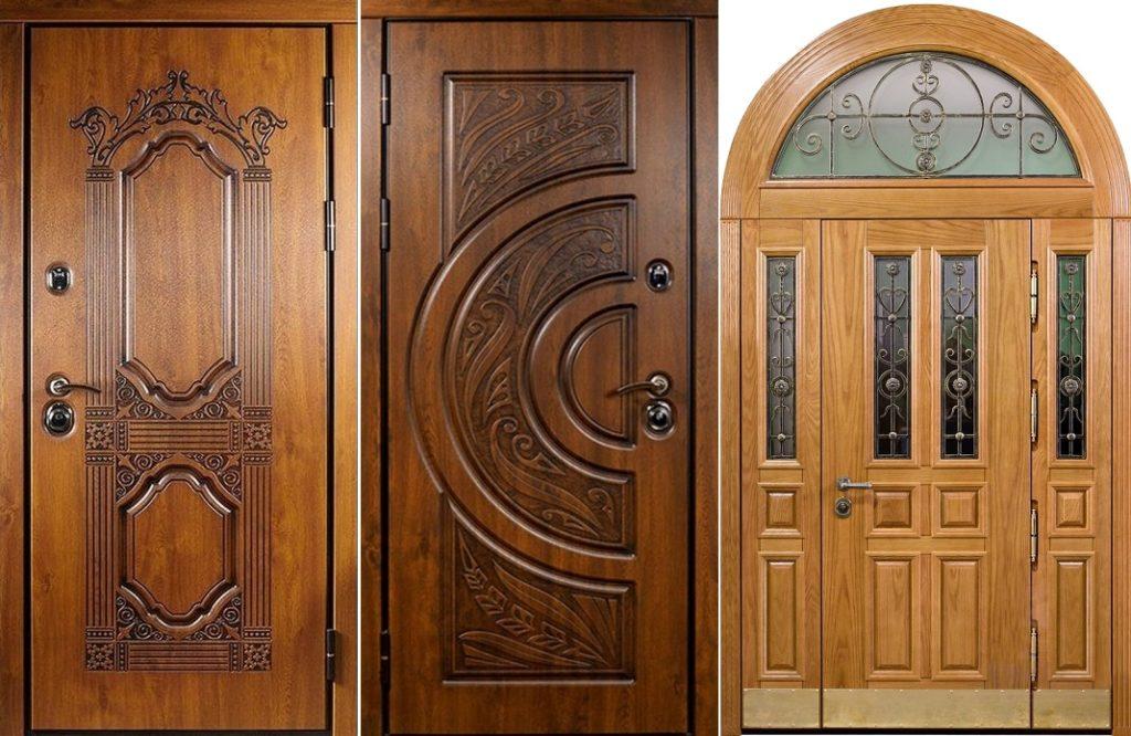 Входные деревянные двери премиум