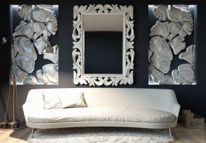 диван и зеркало