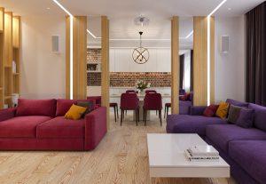 разноцветные диваны