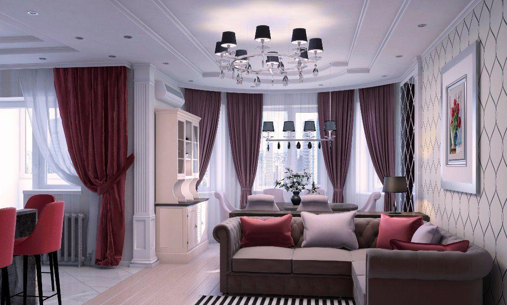 диван и три подушки