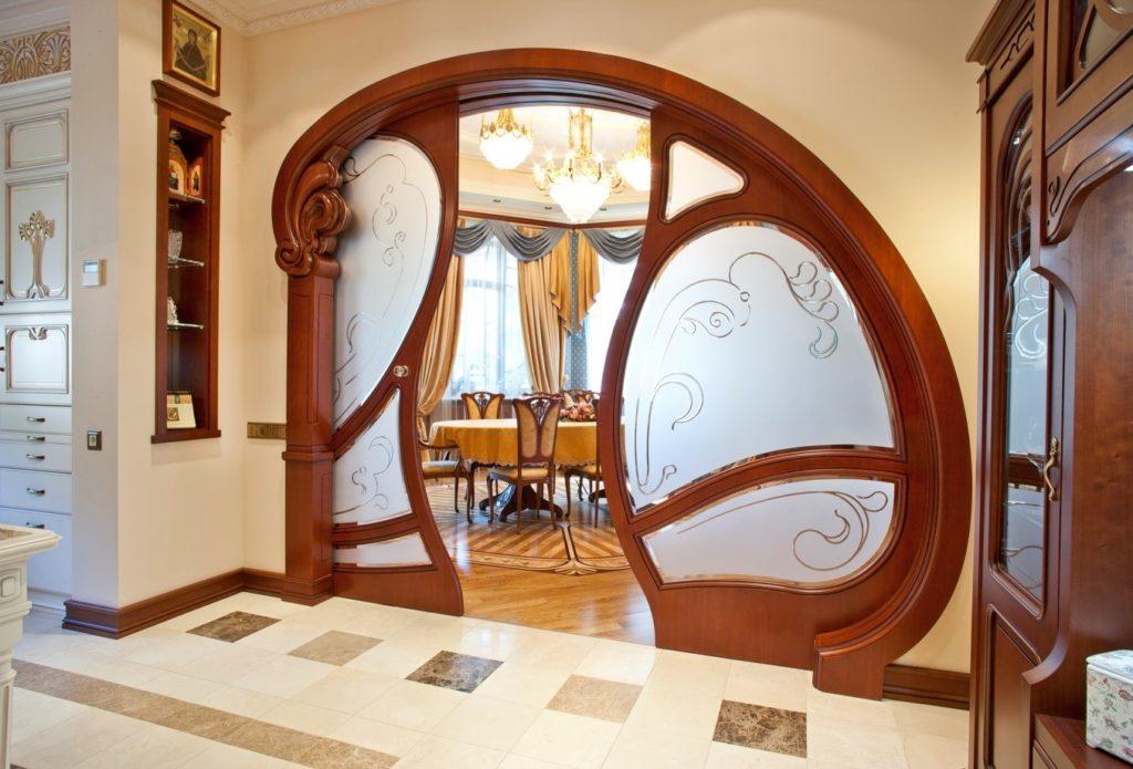 Необычные двустворчатые межкомнатные двери