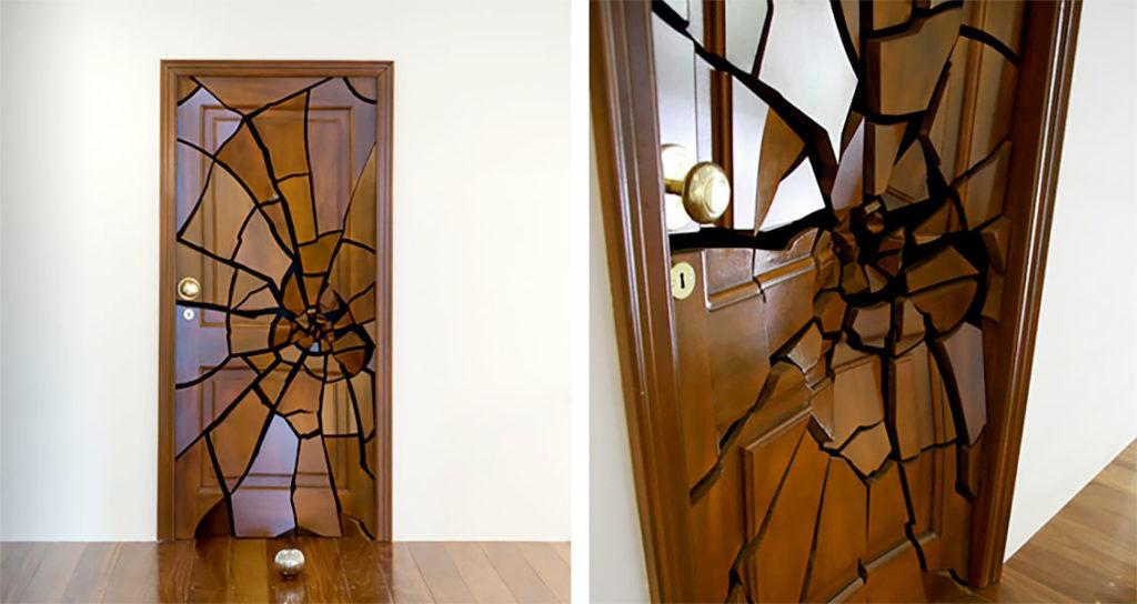 Декоративная пленка на двери