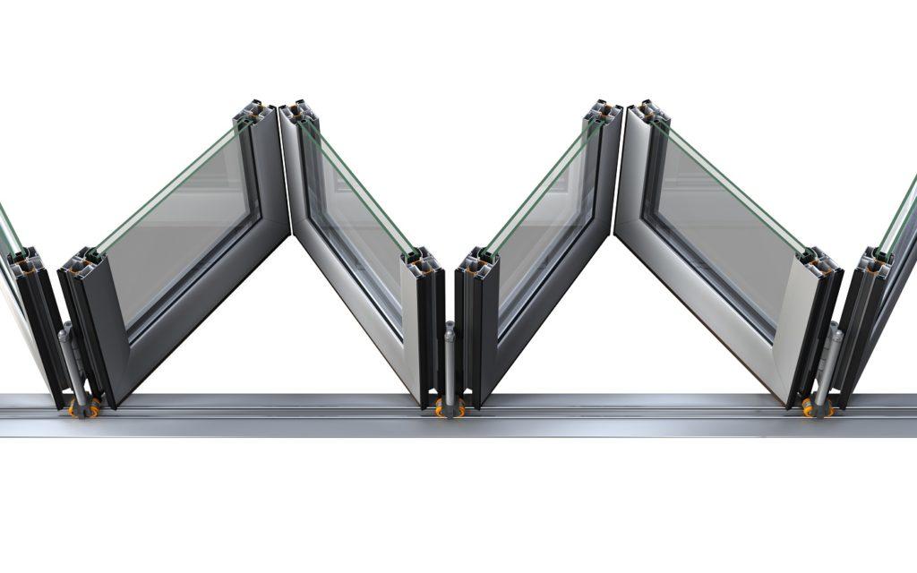 Складная алюминиевая дверь