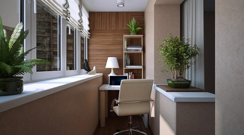 Рабочий кабинет на балконе: 5 важных нюансов - Интерьер