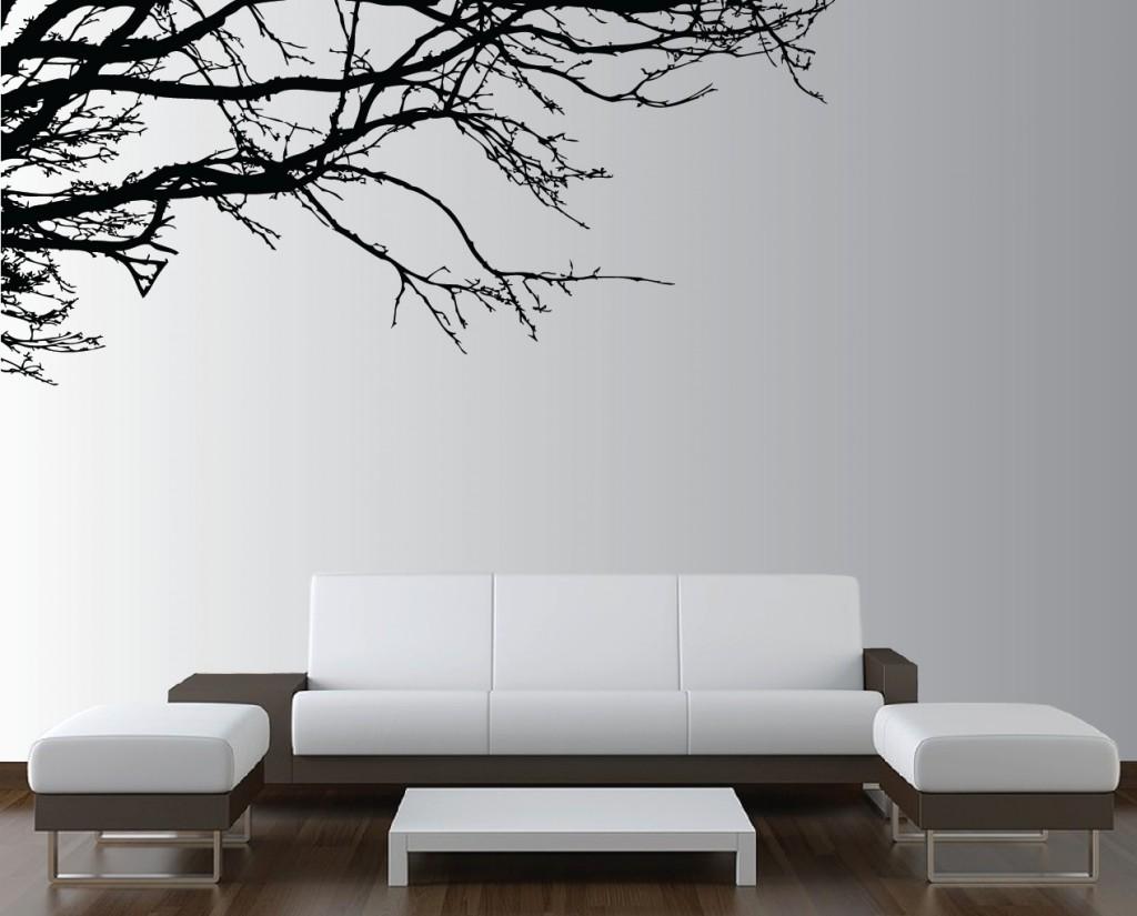 Стикеры или фотообои для стены над диваном