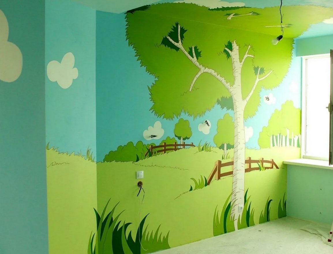Роспись стен в детской своими руками [Топ оригинальных идей]
