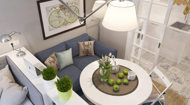 лампа над столом